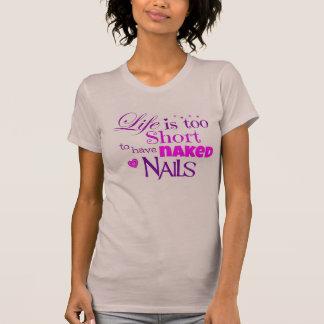 Camiseta A vida é t-shirt demasiado curto