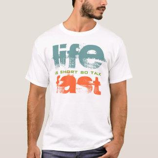 Camiseta A vida é t-shirt rápido do design de texto da