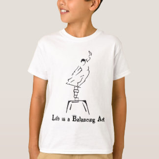 Camiseta A vida é um exercicio de equilibrio