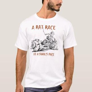 Camiseta A vida é uma competição desenfreada no ritmo de um