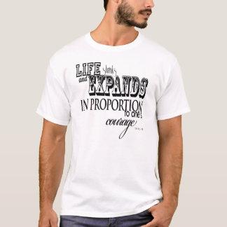 Camiseta A vida encolhe e expande… Anais Nin