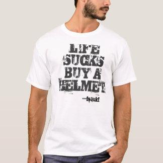 Camiseta A VIDA SUGA O COMPRAR UM CAPACETE, ---fsquid