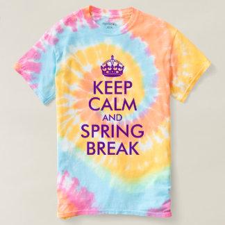 Camiseta A violeta roxa mantem a calma e o seu texto