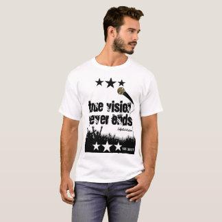 Camiseta a visão verdadeira nunca termina a música