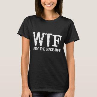 Camiseta A vitória de WTF a cara fora do hóquei ostenta o