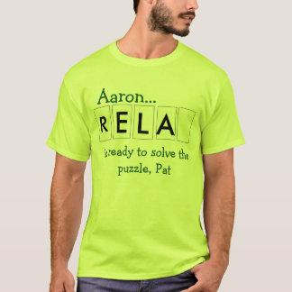 Camiseta Aaron está pronto para resolver o quebra-cabeça,