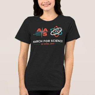 Camiseta AAS + Março para a ciência; Cinzas escuras da urze