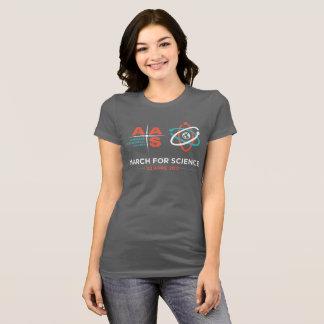 Camiseta AAS + Março para a ciência; Escuro - cinzas