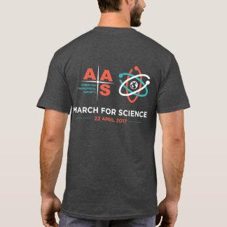 Camiseta AAS + Março para a ciência; Inverta, cinzas de