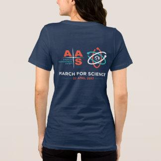 Camiseta AAS + Março para a ciência; Inverta, marinho