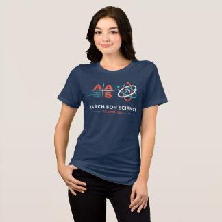 Camiseta AAS + Março para a ciência; Marinho