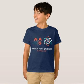 Camiseta AAS + Março para a ciência; Miúdos! - Marinho