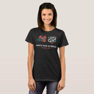 Camiseta AAS + Março para a ciência; Preto