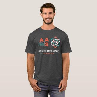 Camiseta AAS+Março para a ciência; Urze do carvão vegetal
