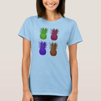 Camiseta abacaxis coloridos