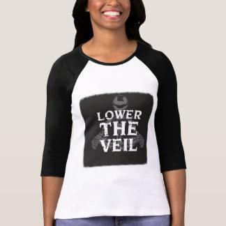 Camiseta Abaixe as senhoras do véu 3/4 de luva T-GRANDE