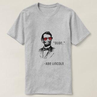 "Camiseta Abe lincoln ""gajo."" citações famosas AbeBROham"