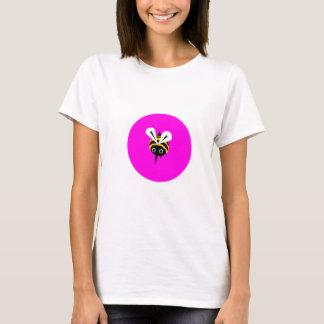 Camiseta Abelha feliz - Tshirt cor-de-rosa da abelha