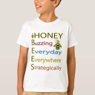 Camiseta Abelhas de trabalho do mel do duro