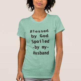 Camiseta Abençoado pelo deus estragado por meu marido