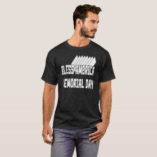 Camiseta Abençoe o t-shirt do Memorial Day 1 de América