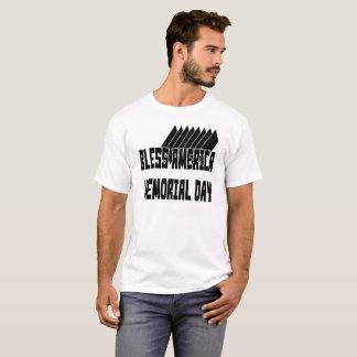 Camiseta Abençoe o t-shirt do Memorial Day de América