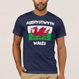 Camiseta Aberystwyth, Wales com bandeira de Galês