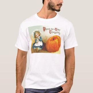 Camiseta Abóbora bonito do campo da menina