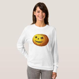 Camiseta Abóbora de sorriso bonito da lanterna de Jack O