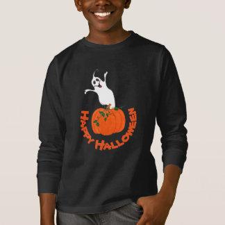 Camiseta Abóbora e fantasma - t-shirt