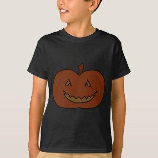 Camiseta Abóbora feliz. Cores escuras. O Dia das Bruxas
