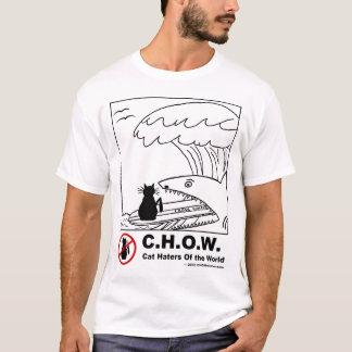 Camiseta Aborrecedores do gato que surfam o t-shirt