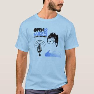 Camiseta Abra o azul do Tshirt de Mikeless com datas da