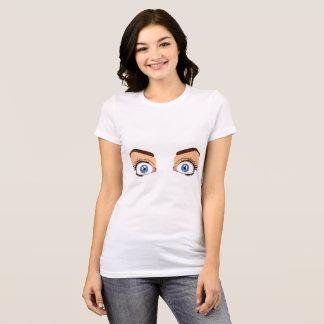 Camiseta Abra os olhos/t-shirt fechado dos olhos