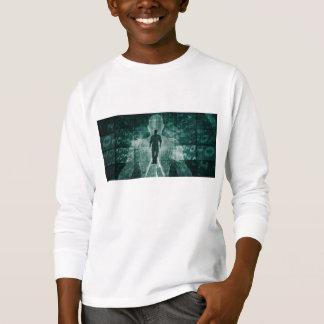 Camiseta Abraçando a nova tecnologia do futuro como a arte