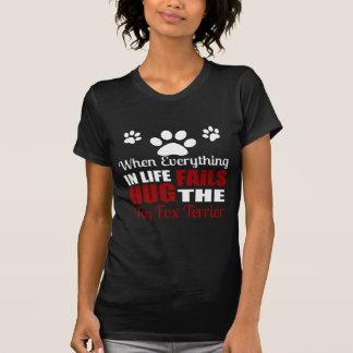 Camiseta Abrace o cão do Fox Terrier do brinquedo