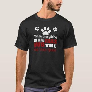 Camiseta Abrace o cão do Spaniel de água irlandesa