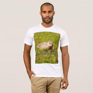 Camiseta Abrace um t-shirt do groundhog hoje