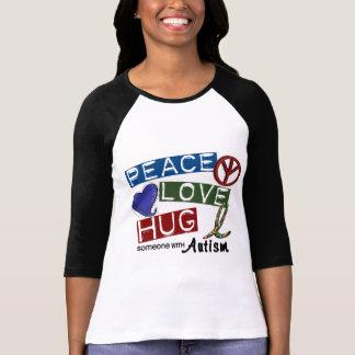Camiseta ABRAÇO do AMOR da PAZ do autismo