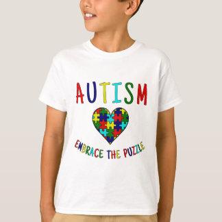 Camiseta Abraço do autismo o quebra-cabeça