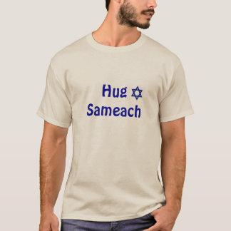 Camiseta Abraço Sameach - feriado Huggable judaico feliz