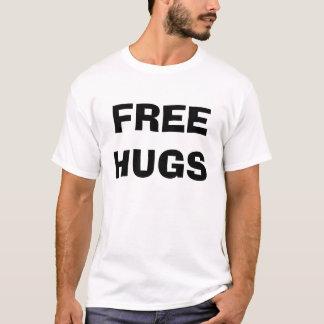 Camiseta Abraços livres e beijos - personalizados