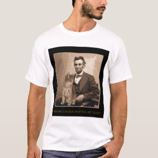 "Camiseta Abraham Lincoln e ""Dixie"" seu gato"