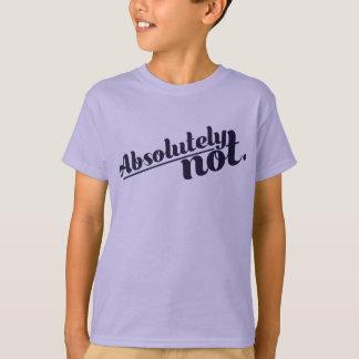 Camiseta Absolutamente não