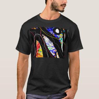 Camiseta abstracção colorida