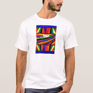 Camiseta Abstracção listrada Design2