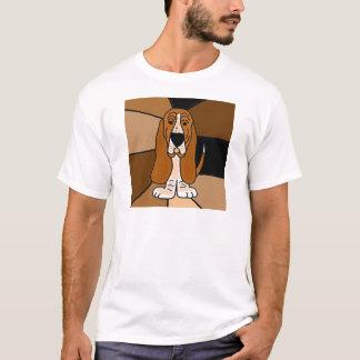 Camiseta Abstrato adorável da arte do cão de Basset Hound