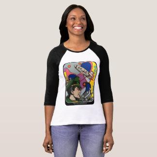 Camiseta Abstrato atômico a pintura do capitão de Rocket em