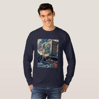Camiseta Abstrato da casca BHS para a cidade da cultura