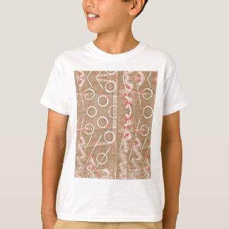 Camiseta Abstrato do branco da oxidação de Tan